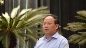 Phó Bí thư Thường trực Thành ủy TPHCM Tất Thành Cang phát triển tại hội nghị