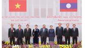 Đại diện lãnh đạo hai nước tại lễ khởi công. Ảnh: TTXVN