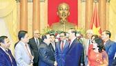 Chủ tịch nước Trần Đại Quang tiếp Đoàn lãnh đạo Hiệp hội Chữ thập đỏ - Trăng lưỡi liềm đỏ quốc tế