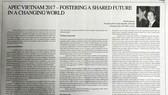 Bài viết của Chủ tịch nước Trần Đại Quang được đăng trang trọng trên Báo The Japan Times