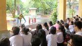Học sinh hào hứng tham gia buổi tập huấn PCCC-CNCH