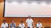 Đồng chí Nguyễn Thiện Nhân phát biểu tại buổi làm việc