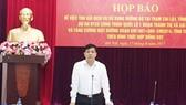 Thứ trưởng Bộ GTVT Nguyễn Ngọc Đông  chủ trì buổi họp báo