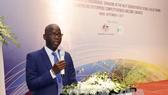 Giám đốc Quốc gia WB tại Việt Nam Ousmane Dione phát biểu tại hội thảo. Ảnh: TTXVN