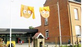 Từ xa đã nhận ra các trường mẫu giáo, tiểu học ở Bỉ bởi cách trang trí ngộ nghĩnh, hấp dẫn