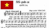 Du khách nước ngoài hát Tiến quân ca