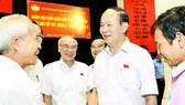 Chủ tịch nước Trần Đại Quang tiếp xúc cử tri TPHCM. Ảnh:  Việt Dũng
