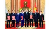 Chủ tịch nước Trần Đại Quang trao các quyết định phong hàm Đại sứ