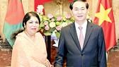Chủ tịch nước Trần Đại Quang tiếp Chủ tịch Quốc hội Bangladesh Shirin Sharmin Chaudhury
