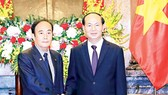 Chủ tịch nước Trần Đại Quang tiếp Tỉnh trưởng tỉnh Saitama (Nhật Bản) Kiyoshi Ueda