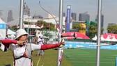 Cung thủ Lộc Thị Đào đang được kỳ vọng sẽ có thành tích cao.            ảnh: T.L