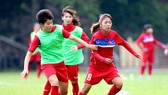 Tuyển nữ Việt Nam quyết thắng Myanmar vào chiều nay. Ảnh: Nhật Anh