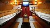A high quality coach on a train of Vietnam Railway