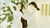 Tác phẩm Bản giao hưởng trắng của họa sĩ Hoàng Tích Chù