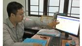 Anh Vũ Chí Kiên hướng dẫn thao tác tra cứu  thông tin quy hoạch trên mạng