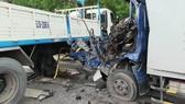 Va chạm 2 xe tải, tài xế xe tải tử vong
