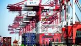 Vận chuyển hàng hóa tại một cảng ở Thanh Đảo, tỉnh Sơn Đông, Trung Quốc. (Nguồn: AFP/TTXVN)