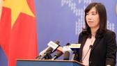 外交部發言人黎氏秋姮就若干傳媒機關所關注問題作答覆。(圖源:互聯網)