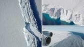 """歐洲航天局發布衛星圖像顯示冰山一角,約6000平方公里,世界上有記錄以來的最大冰山之一有可能在""""幾小時、幾天或幾週內""""脫離南極一處冰架。(圖源:互聯網)"""