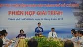 市人民議會主席阮氏決心在市旅遊發展戰略闡釋會議上發表講話。(圖源:市黨部新聞網)