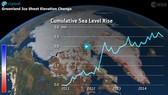加利福尼亞大學歐文分校和美國航天局噴氣推進實驗室合作,利用後者的兩顆衛星從2002年4月到2014年10月收集到的重力數據,計算出了海平面指紋,並用海底壓力觀測數據進行了驗證。(圖源:Cryosat)