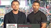 影帝里安納度‧狄卡比奧(左)與占美霍士呼籲國民踴躍捐款救災。(圖源:互聯網)
