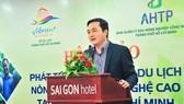 市旅遊廳長裴佐煌宇在研討會上發表講話。(圖源:龍池)