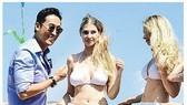 馬德鐘不敢直視穿比堅尼泳衣的模特兒,被叫可觸摸她們胸部來辨真偽也充耳不聞。(圖源:柯美)