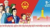 """圖為""""一一‧九""""越南法律日宣傳海報。(圖源:司法部網站)"""