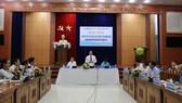Ông Lê Văn Thanh, Phó Chủ tịch UBND tỉnh Quảng Nam, tại buổi họp báo thông tin về các sự kiện, hoạt động tại Quảng Nam trong khuôn khổ Năm APEC Việt Nam - 2017