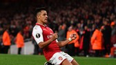 Alexis Sanchez mừng bàn thắng. Ảnh: Getty Images