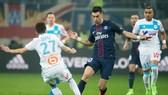 Paris SG (phải) đều giành được chiến thắng trong 4 lần gần nhất viếng thăm sân Velodrome của Marseille ở Ligue 1. Ảnh: Getty Images