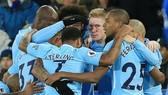Hình ảnh chiến thắng của Man.City trở nên quá quen thuộc. Ảnh: Getty Images