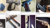 Các loại vũ khí được rao bán trên mạng