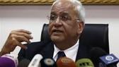 Tổng thư ký Tổ chức Giải phóng Palestine (PLO) Saeb Erekat. Ảnh : Press TV