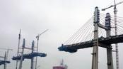 Bach Dang Bridge under construction (Photo: VNA)