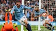 Barnardo Silva ăn mừng bàn thắng vào lưới Tottenham hômn thứ Tư