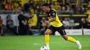 Cầu thủ chạy cánh Jadon Sancho của Dortmund.