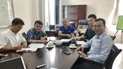 Phó Chủ tịch VFF Trần Quốc Tuấn cùng HLV Park Hang-seo và các bộ phận chuyên môn tại buổi họp. Ảnh: ĐOÀN NHẬT