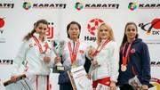 Nguyễn Thị Ngoan (thứ 2 từ trái sang) triển vọng đạt kết quả cao tại giải trẻ thế giới. Nguồn: W.K.F