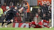 Tiền đạo Mane trong pha ghi bàn vào lưới Spartak Moscow
