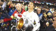 Ronaldo đầy kiêu hãnh với danh hiệu Champions League.