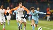 Shakhtar Donetsk (trái) đã xứng đáng đi tiếp sau nỗ lực đánh bại Man.City. Ảnh: Getty Images