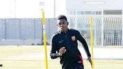 Dembele chưa thể hoàn thành 100% buổi tập cùng Barca. Ảnh: Getty Images.