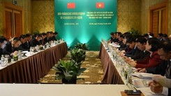 The meeting of the Vietnam-China Cooperation Committee for Management of Land Border Gates in Hanoi on December 18 (Photo: qdnd.vn)