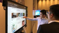 Interactive flat panels of BenQ (Photo: SGGP)