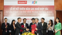 FPT và Điện Quang bắt tay phát triển thiết bị chiếu sáng thông minh