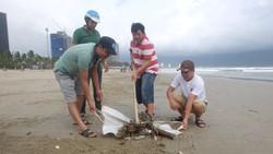 Dọn rác tại các bãi biển sau mưa lớn