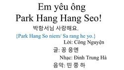 """Thú vị bé gái 6 tuổi hát ca khúc """"Em yêu ông Park Hang Seo"""" do cha phổ nhạc"""