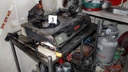 Hiện trường vụ nổ bình gas do bảng điện lắp sát bên bị chập điện